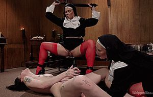 Charlotte Sartre Dominated By Sadistic Nuns Mona Wales And Helena Lock